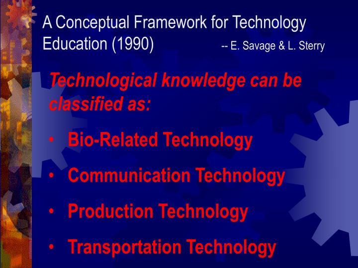 A Conceptual Framework for Technology Education (1990)