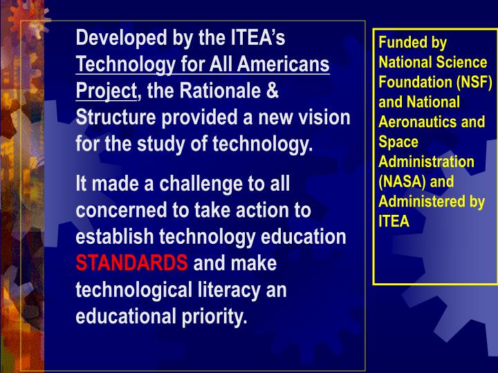 Developed by the ITEA's