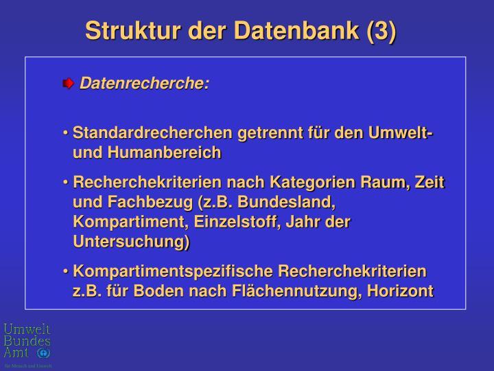 Struktur der Datenbank (3)