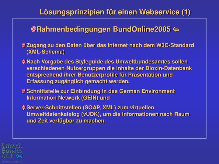 Lösungsprinzipien für einen Webservice (1)