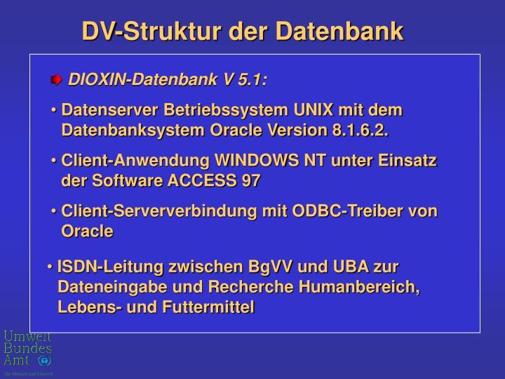 DV-Struktur der Datenbank