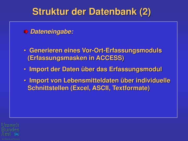 Struktur der Datenbank (2)