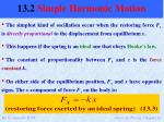 13 2 simple harmonic motion