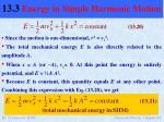 13 3 energy in simple harmonic motion1
