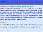 13 3 energy in simple harmonic motion6
