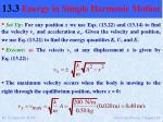 13 3 energy in simple harmonic motion8