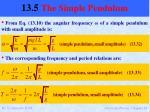 13 5 the simple pendulum4