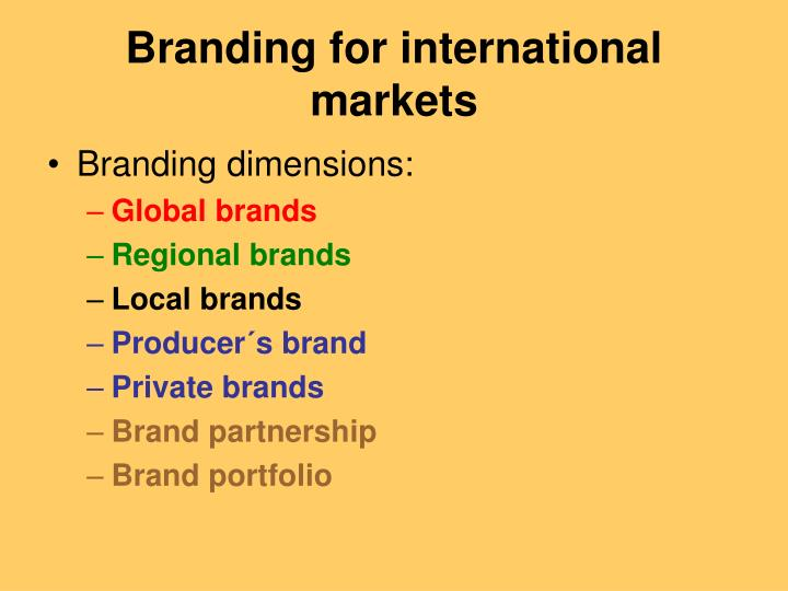 global brand and local brand