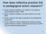 how does reflective practice link to pedagogical action research