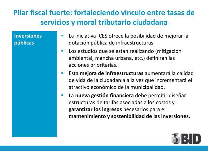 Pilar fiscal fuerte: fortaleciendo vinculo entre tasas de servicios y moral tributario ciudadana