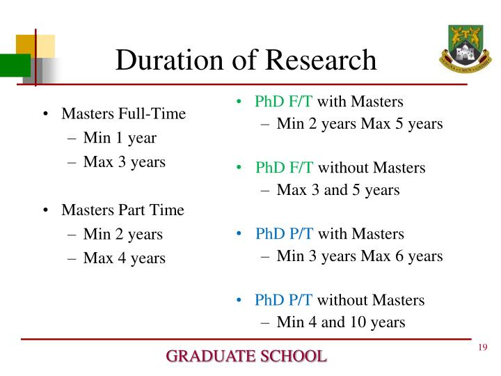 Masters Full-Time