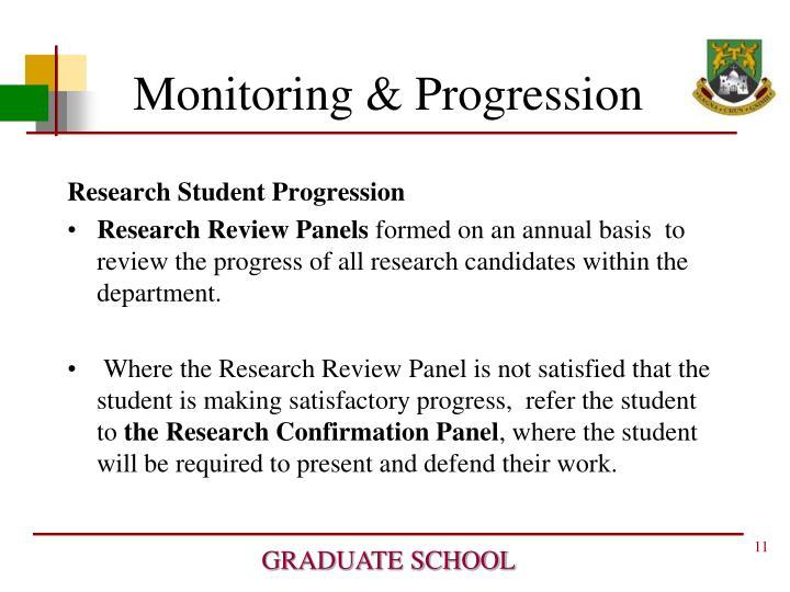 Monitoring & Progression