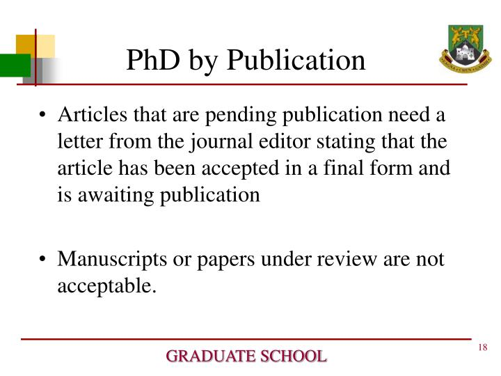 PhD by Publication