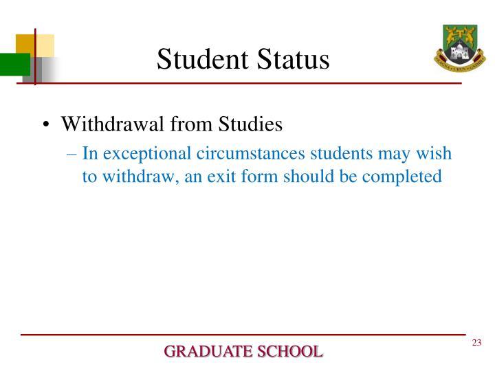 Student Status