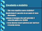 creativit e visibilit1