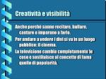 creativit e visibilit10