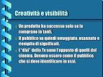 creativit e visibilit12