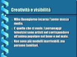 creativit e visibilit13