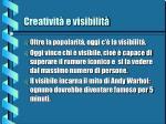 creativit e visibilit14
