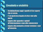 creativit e visibilit15