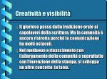 creativit e visibilit3