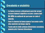 creativit e visibilit7