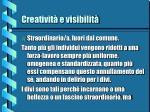 creativit e visibilit9