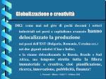 globalizzazione e creativit