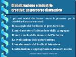 globalizzazione e industrie creative un percorso diacronico