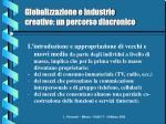 globalizzazione e industrie creative un percorso diacronico12