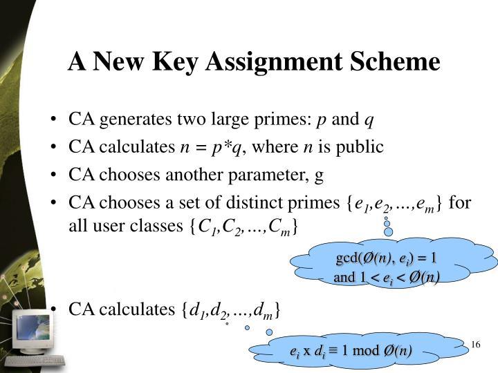 A New Key Assignment Scheme