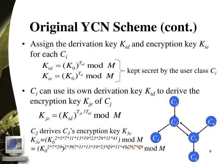 Original YCN Scheme (cont.)