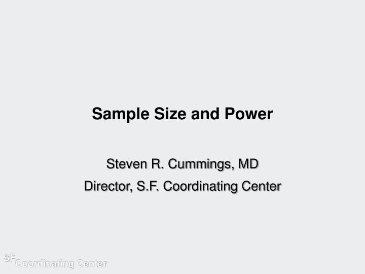 sample size and power n.