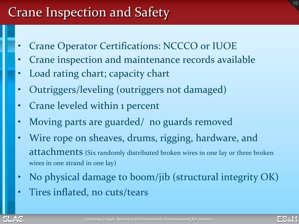PPT - Hoisting, Rigging and Crane Safety Training PowerPoint