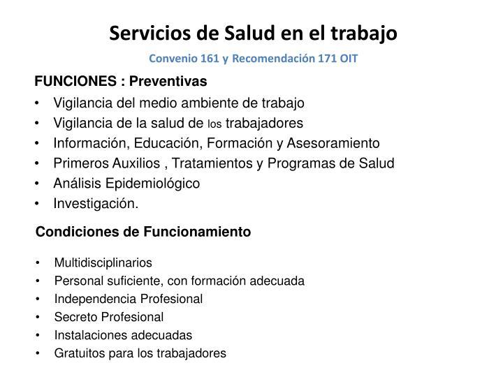 FUNCIONES : Preventivas