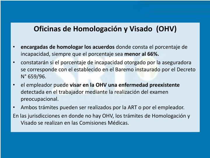 Oficinas de Homologación y Visado  (OHV)