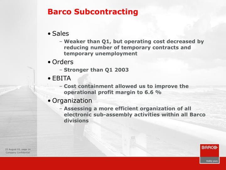 Barco Subcontracting