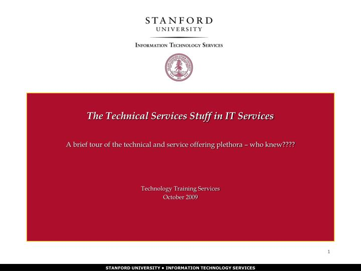 the technical services stuff in it services n.