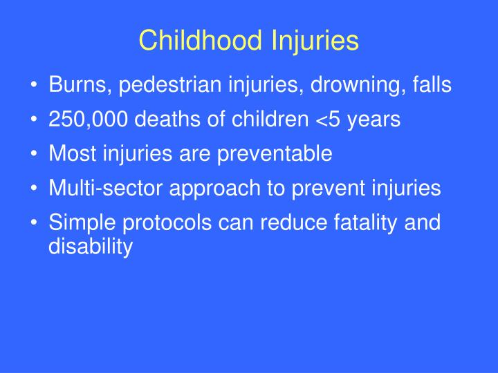 Childhood Injuries