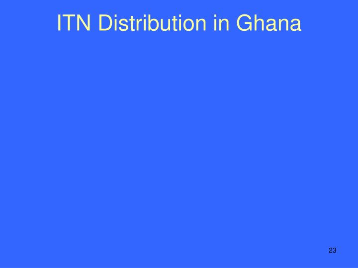 ITN Distribution in Ghana