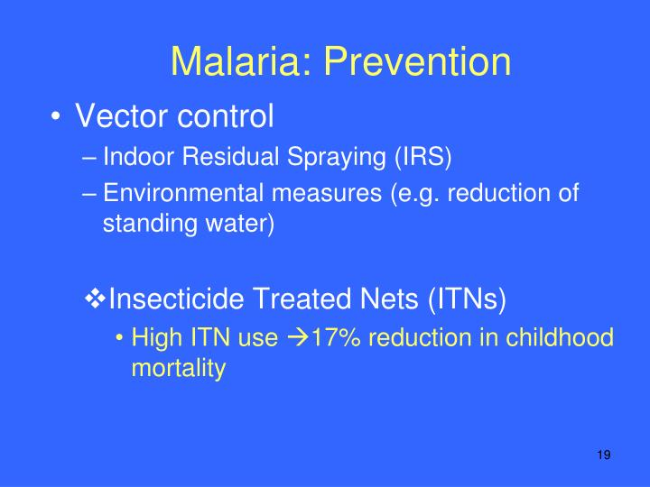 Malaria: Prevention