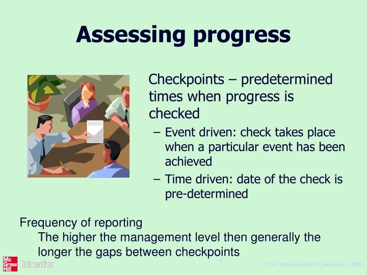 Assessing progress