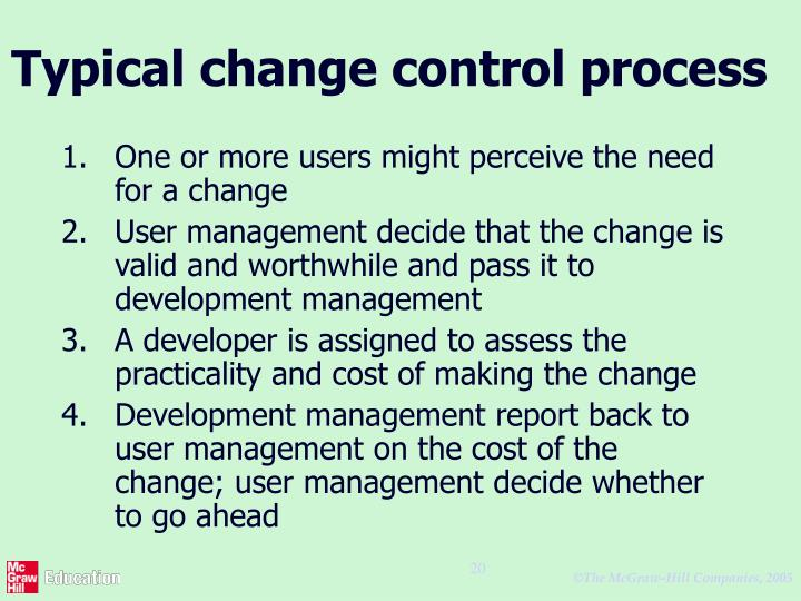 Typical change control process