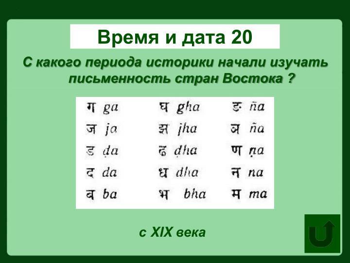 Время и дата 20