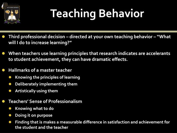 Teaching Behavior