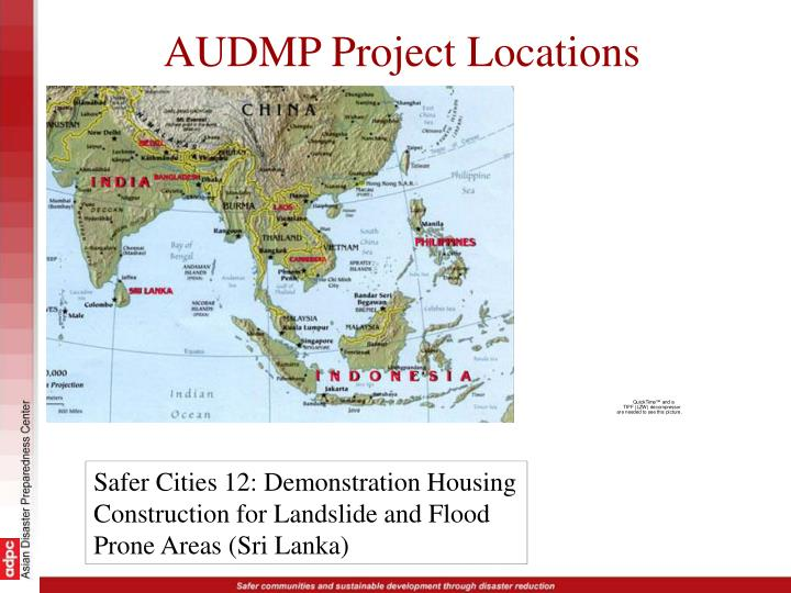 AUDMP Project Locations