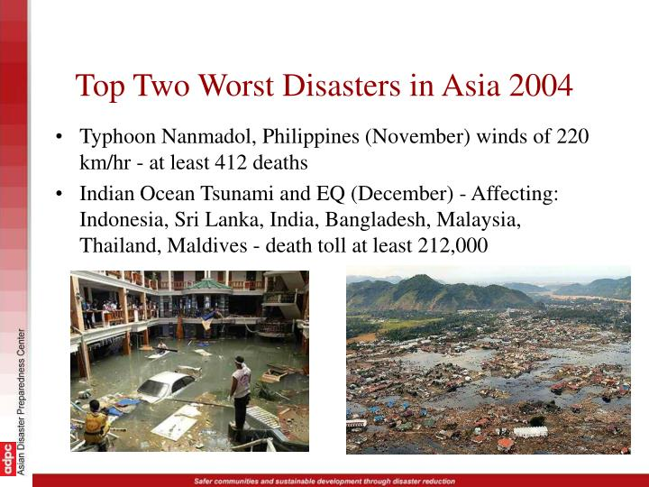 Top Two Worst Disasters in Asia 2004