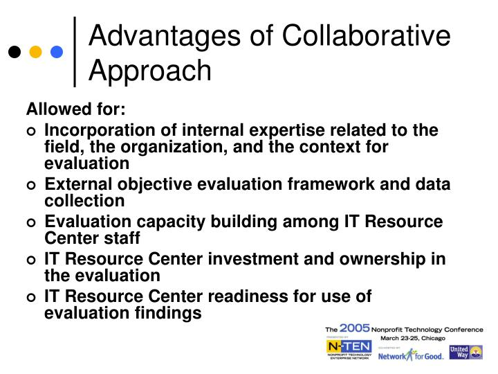 Advantages of Collaborative Approach