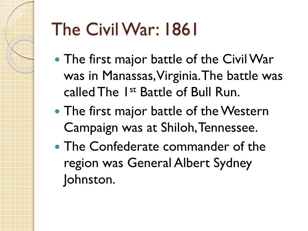 PPT - The Civil War: 1861 PowerPoint Presentation, free download ...