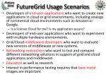 futuregrid usage scenarios